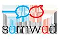 Samwad White Logo