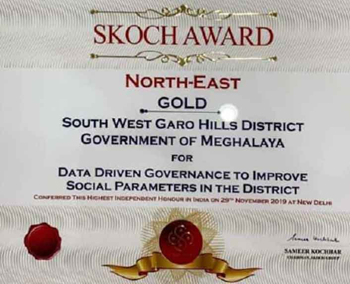 Meghalaya government won the Skoch Award Image